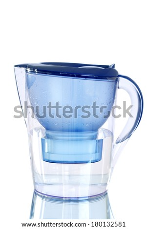 Water Filter isolated on white - stock photo