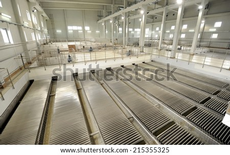 Water filtering facility - stock photo