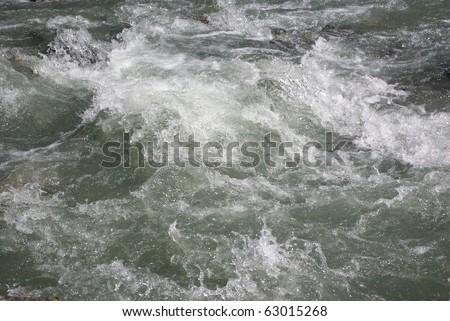 Water flow in mountain river Norway, Bricksdail - stock photo