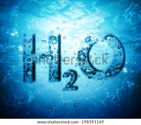 water formula - stock photo