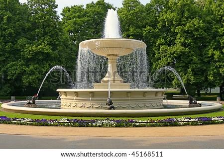 Water fountain - stock photo