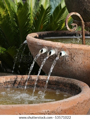 Water Fountain In Garden Or Park