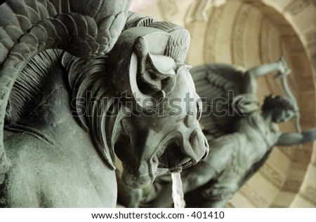 water fountain in Paris - stock photo