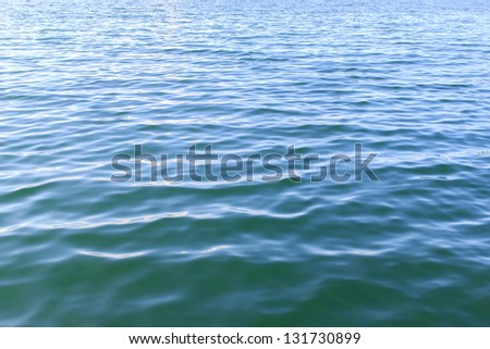 Water from one lake in the dam. - stock photo