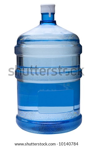 water gallon on white clipping path included - stock photo