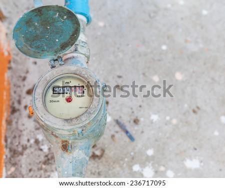 water gauge - stock photo
