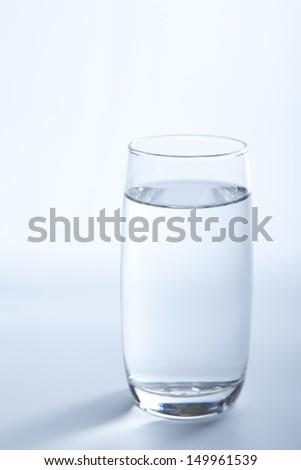 water glass - stock photo
