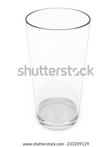 Water Glass Isolated On a White Background. - stock photo