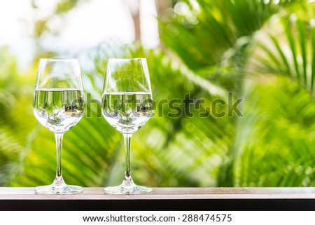 Water glass outdoor