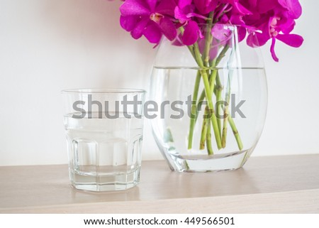Water Glass Orchid Flower Vase Stock Photo Edit Now 449566501