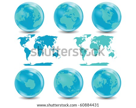 Water Globes Collection isolated on white