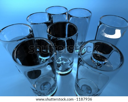 water health reccomended daily intake - stock photo