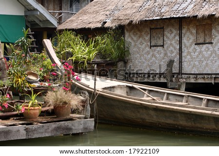 Water house,  Thailand - stock photo
