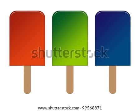 Water Ice Cream Icon - stock photo