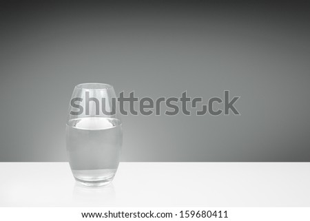 water in a clear glass vase