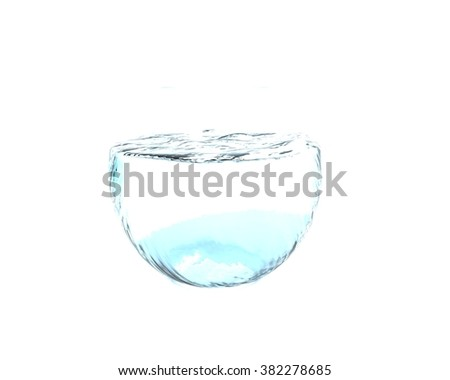 water in fishbowl, 3d render
