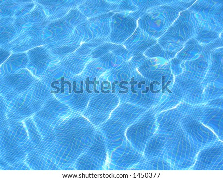 water in pool - stock photo