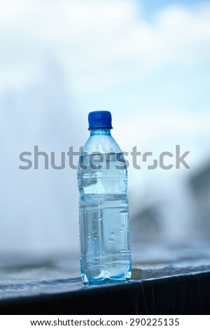 water in the bottle - stock photo