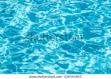 Water in the pool background.