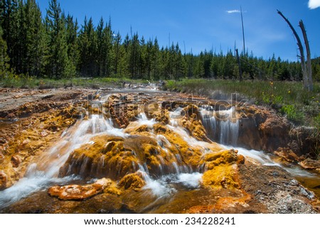 Water in Yellow Creek - stock photo
