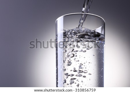 Water is poured