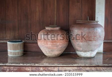 Water jars - stock photo