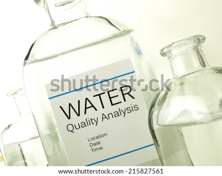 Water laboratory - stock photo
