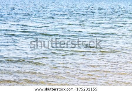water, lake, wave, background - stock photo