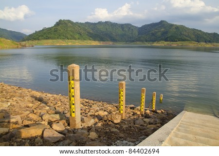 Water level. - stock photo