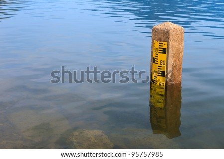 Water level at the dam - stock photo