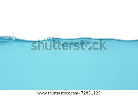 Water level isolated on white - stock photo