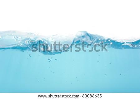 Water level isolated on white background - stock photo