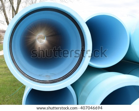Water Main Pipes for Construction & Water Main Pipes Construction Stock Photo 407046694 - Shutterstock