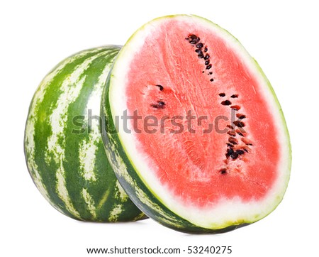 water melon isolated on white background - stock photo