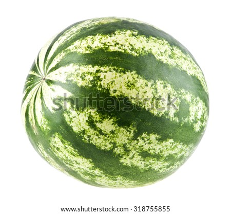 water-melon on a white background - stock photo