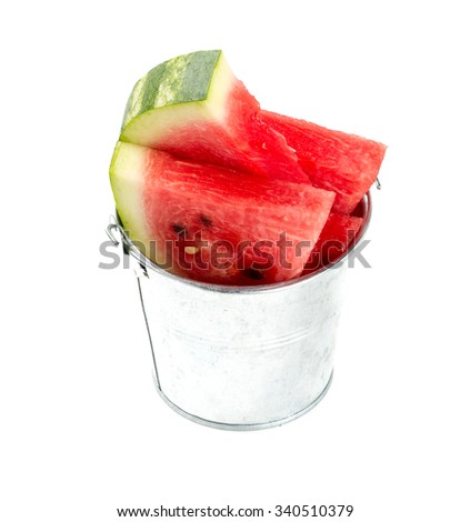 water melon over white