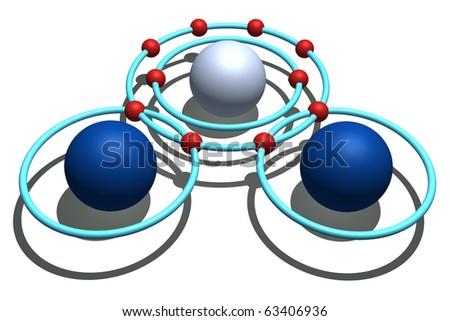 water molecule - stock photo
