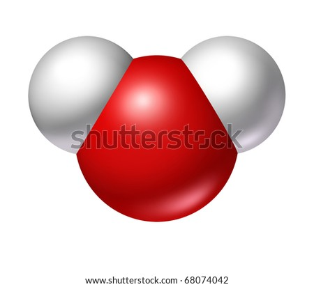 water molecule science symbol oxygen hydrogen h2o - stock photo