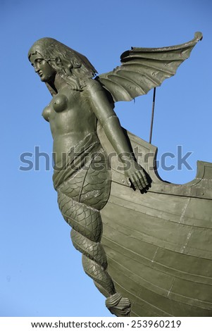 Water nymph (Rostra column) in Saint-Petersburg - stock photo