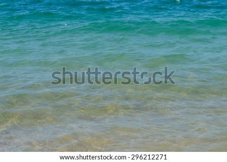 Water ocean background. Clear blue ripple aqua texture,Andaman sea - stock photo