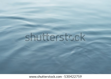 water of Still blue abstract background