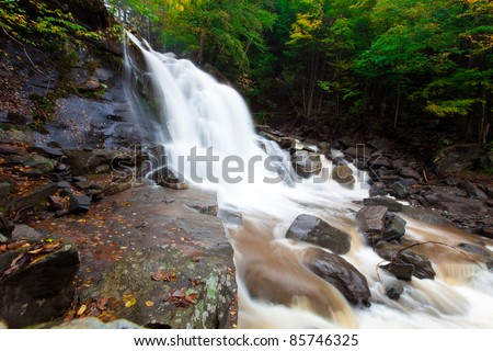 Water of waterfall - stock photo