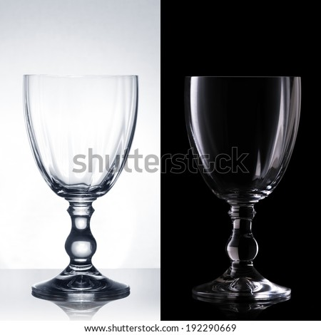 Water on a glass - stock photo