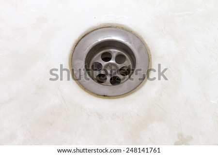 water on the white background - stock photo