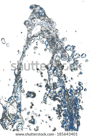 water on white background