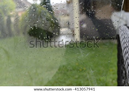 Water on window.