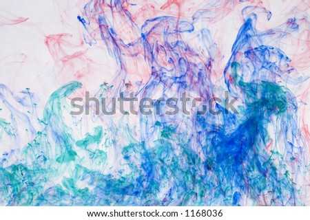 water or smoke abstract art for background - stock photo