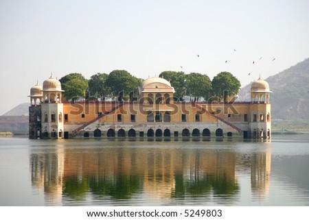 Water palace in Jaipur,  Rajasthan, India. - stock photo