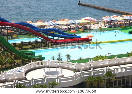 water park on the seaside