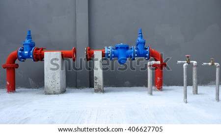 water pipe line ready to be installed - stock photo